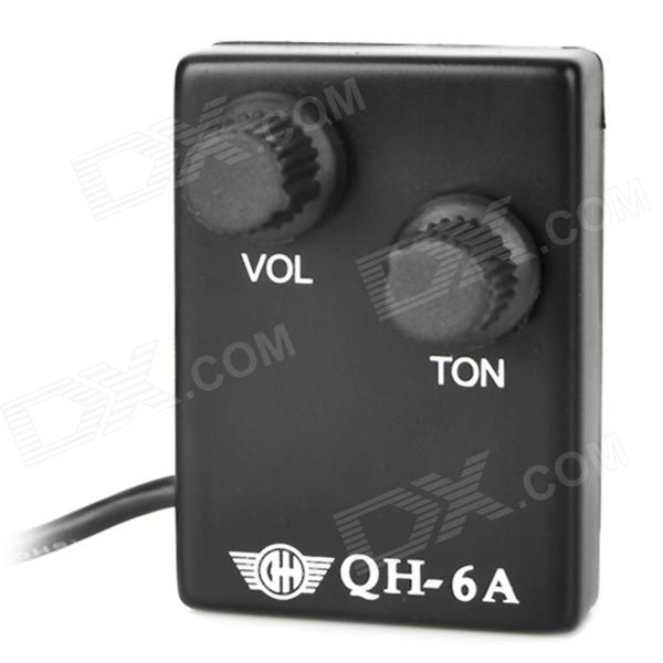 William QH-6A Universal 12-Hole Manual Guitar Pickup - Black (3.5mm Jack / 70cm-Cable)