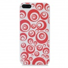 Super Slim Circles Pattern Plastic Case for Iphone 5 - Red + White