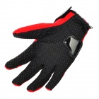 PRO-BIKER MCS-22 Full-Fingers Motorcycle Racing Gloves - Red (Pair / Size M)