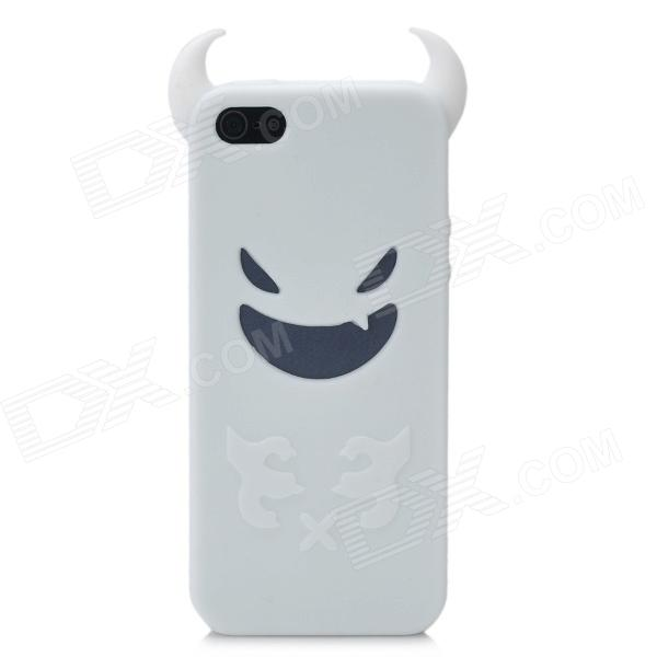 Devil Style Protective Silicone Back Case for Iphone 5 - White stylish protective silicone back case for iphone 5c grey