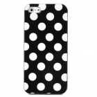 White Dot Pattern Protective TPU Case für iPhone 5 - Schwarz