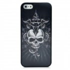 Protective 3D Skull Pattern Back Case for Iphone 5 - Black