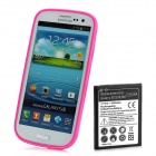Rechargeable 2500mAh Battery w/ PVC Back Case + Screen Protector for Samsung i9300 - Deep Pink