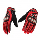 PRO-BIKER MCS-23 Full-Fingers Autumn & Winter Motorcycle Racing Gloves - Red (Pair / Size L)
