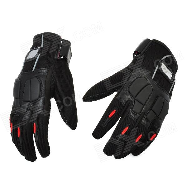 PRO-BIKER MCS-22 Full-Fingers Motorcycle Racing Gloves - Black (Pair / Size M)