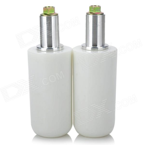 Universal Motorcycle Extended Frame Sliders Crash Protectors - White (2PCS)
