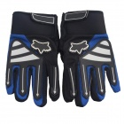 Fox Non-slip Full-Fingers Motorcycle Racing Gloves - Blue + Black (Pair / Size L)