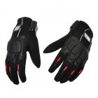 PRO-BIKER MCS-22 Full-Fingers Motorcycle Racing Gloves - Black (Pair / Size L)