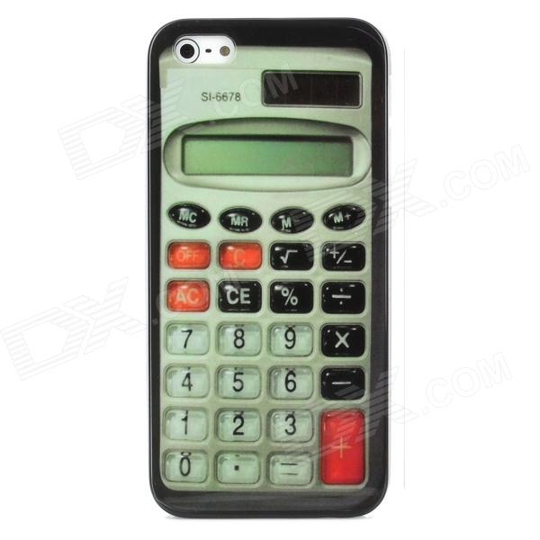все цены на  Protective Calculator Style Back Cover Case w/ Micro SIM Adapter for Iphone 5 - Black + Red + Green  онлайн