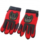 Monster Army Non-slip Full-Fingers Motorcycle Racing Gloves - Red (Pair / Size XL)