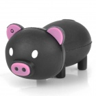 Cartoon Pig-Stil USB 2.0 Flash Drive - Black (32GB)