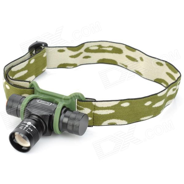 160lm 3-Mode White Light Zooming Headlamp - Black (1 x AA / 14500)