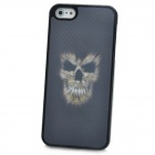 Protective 3D Skull Ghost Pattern Back Case for Iphone 5 - Black