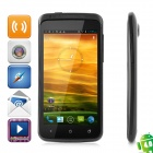 "One X Android 4.03 WCDMA Bar Phone w/ 4.5"" Capacitive Screen, Wi-Fi, GPS and Dual-SIM - Black"