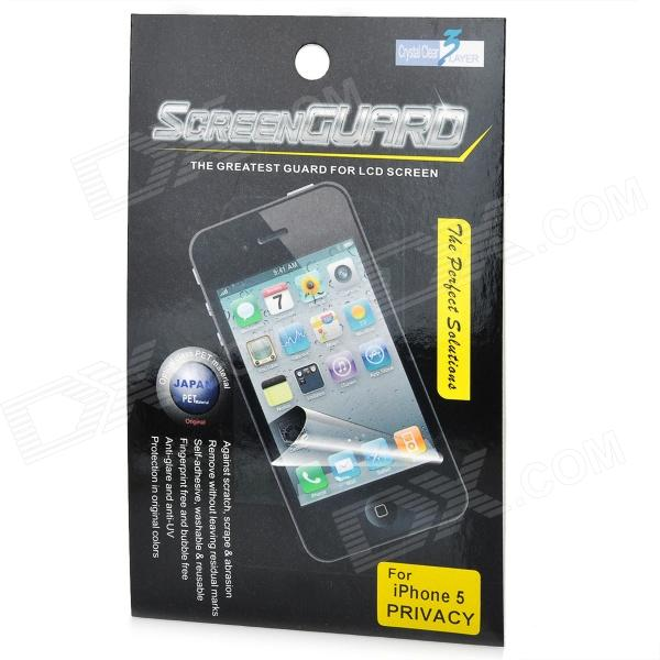 Protective Privacy LCD Screen Protector for Iphone 5 - Transparent Black james chellis mcsa