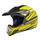 Cool IBK Motorcycle Sports Racing Helmet - Yellow + Black (Size L)