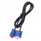 U1209013 VGA 3+5 Male to Female Video Signal Transmission Cable - Black (136cm)