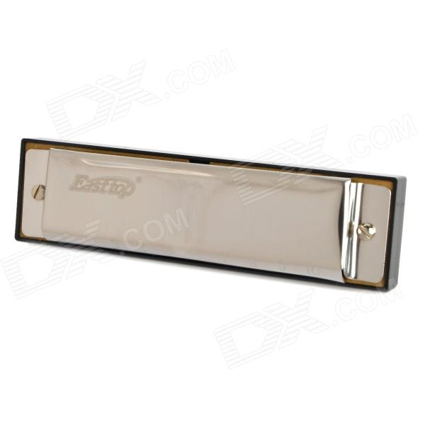 Easttop 001 10-Hole 20-Tone C-Key Harmonica - Silver + Black