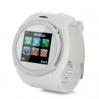 "QQ999 GSM Watch Phone w/ 1.5"" Resistive Screen, Quad-Band, FM and Single-SIM - White"
