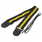 William Stylish Nylon Guitar Strap Belt - Yellow + Black