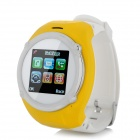 "QQ999 GSM Watch Phone w/ 1.5"" Resistive Screen, Quad-Band, FM and Single-SIM - Yellow + White"