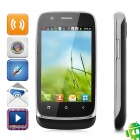 "N808i Android 4.0 GSM Bar Phone w/ 3.5"" Capacitive Screen, Quad-Band, Wi-Fi and Dual-SIM - Black"