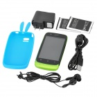 "N808i Android 4.0 GSM Bar Phone w/ 3.5"" Capacitive Screen, Quad-Band, Wi-Fi and Dual-SIM - Green"