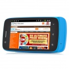"N808i Android 4.0 GSM Bar Phone w/ 3.5"" Capacitive Screen, Quad-Band, Wi-Fi and Dual-SIM - Blue"