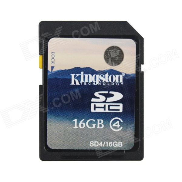 äkta Kingston 16GB SDHC SD-minneskort (klass 4) - svart