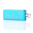 PNY Pairs Urban Style Pattern Rotational USB 2.0 Flash Drive - Blue + White (8GB)