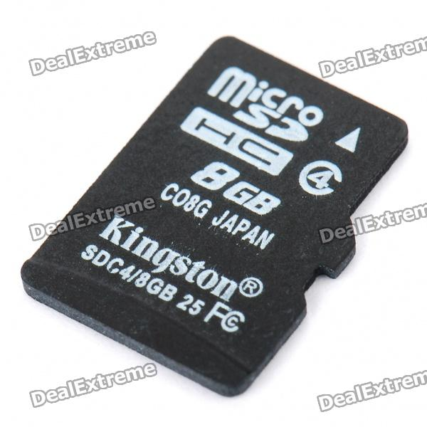 Genuine Kingston 8GB SDHC MicroSD/TF Memory Card (Class 4)