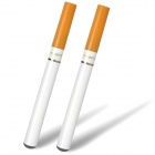 USB Rechargeable Electronic Cigarettes w/ 10 Refills + AC/Car Charger - White (Winston Flavor/2PCS)