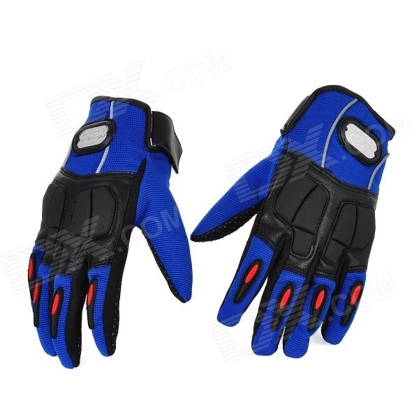 PRO-BIKER MCS-22 Full-Fingers Motorcycle Racing Gloves - Blue + Black (Pair / Size M)