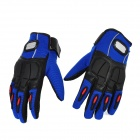 PRO-BIKER MCS-22 Full-Fingers Motorcycle Racing Gloves - Blue + Black (Pair / Size XL)