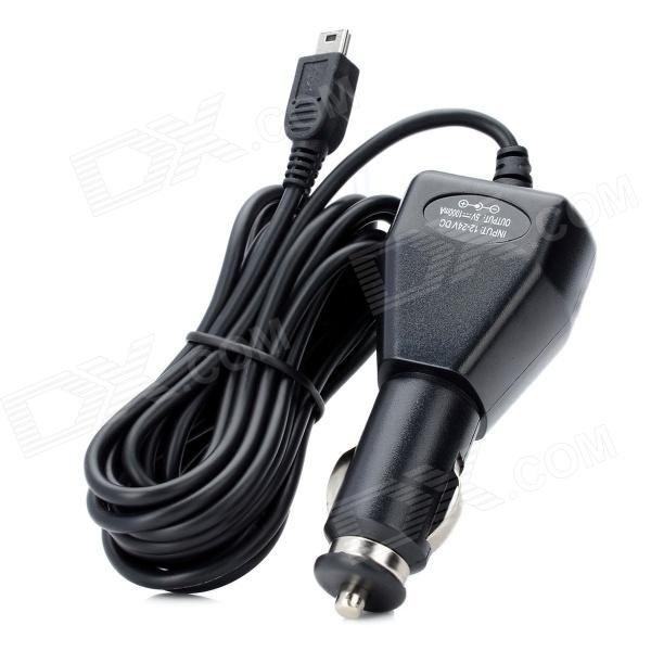 Mini USB Car Cigarette Lighter Powered Charger - Black (300cm-Cable)