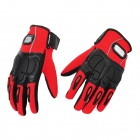 PRO-BIKER MCS-22 Full-Fingers Motorcycle Racing Gloves - Red + Black (Pair / Size L)