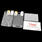 Yimi Protective Front Screen + Water Cube Silver Tree Style Back Protector Film for Iphone 4 / 4S