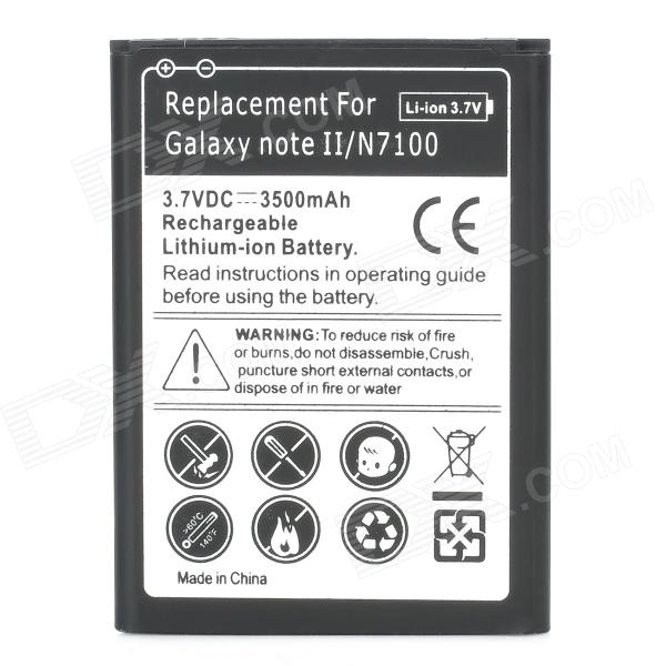 3500mAh Rechargeable Replacement Li-ion Battery for Samsung Galaxy Note 2 N7100 - Black + White ismartdigi rechargeable 3100mah li ion battery for samsung n7100 galaxy note 2 n7102 white