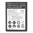 3500mAh Rechargeable Replacement Li-ion Battery for Samsung Galaxy Note 2 N7100 - Black + White