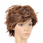 8168 2/30 Fashion Man's Slightly Curly Short Hair Wig - Golden