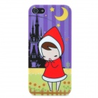 Little Red Cap Wishing in the Dark Pattern Protective Back Case for Iphone 5 - Multicolored