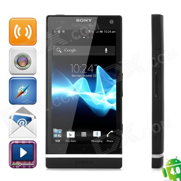Sony LT26ii Xperia SL Android 4.0 WCDMA Bar Phone w/ 4.3 Capacitive Screen, GPS and Wi-Fi - Black sony lt26ii xperia sl android 4 0 wcdma bar phone w 4 3 capacitive screen gps and wi fi black
