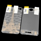 Yimi Protective Front Screen + 3D Eiffel Tower Style Back Protector Film for iPhone 4 / 4S