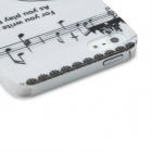 Girl Playing Guitar Pattern Protective Back Case for Iphone 5 - White + Black + Red