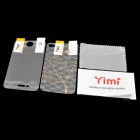 Yimi Protective Front Screen + Water Cube Golden Tree Style Back Protector Film for Iphone 4 / 4S