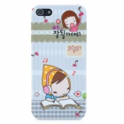 Little Red Riding Hood Girl Reading Pattern Protective Plastic Case for iPhone 5 - Colorful