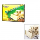 V210 DIY Elektronische Wooden Bulldozer 3D Puzzle Remote Controlled - Holz Farbe (5 x AAA)