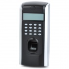 2.5'' LCD Fingerprint Biometric Code Security Door Access Control Machine - Silver + Black (DC 12V)