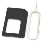 Micro SIM Card to Standard SIM Card Adapter for Iphone 5 - Black