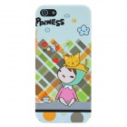 Little Girl Drinking Pattern Protective Plastic Back Case for iPhone 5 - Multicolored